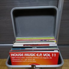 Discos de vinilo: MALETA METÁLICA + LOTE 64 VINILOS HOUSE. Lote 194904597