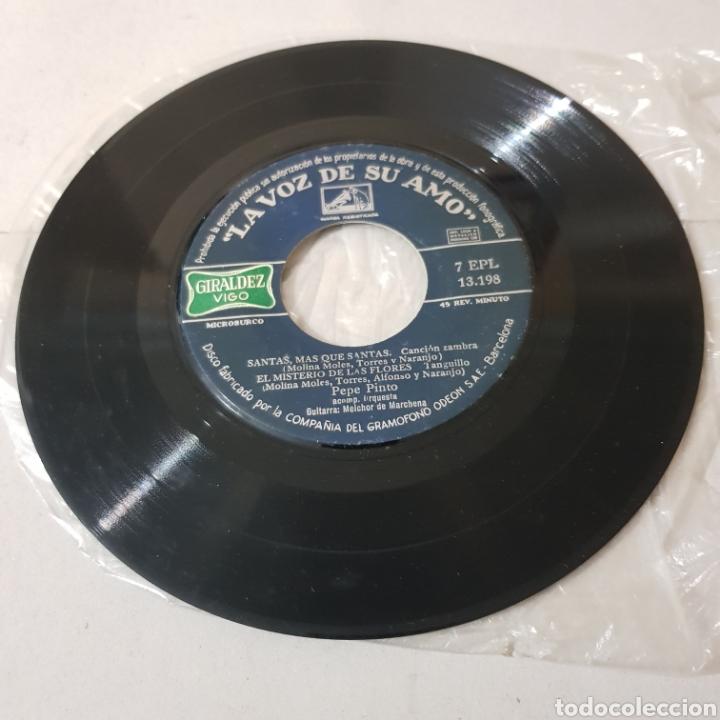 Discos de vinilo: PEPE PINTO - CANTE FLAMENCO 1958 - SANTAS , MAS QUE SANTAS - Foto 4 - 194904750