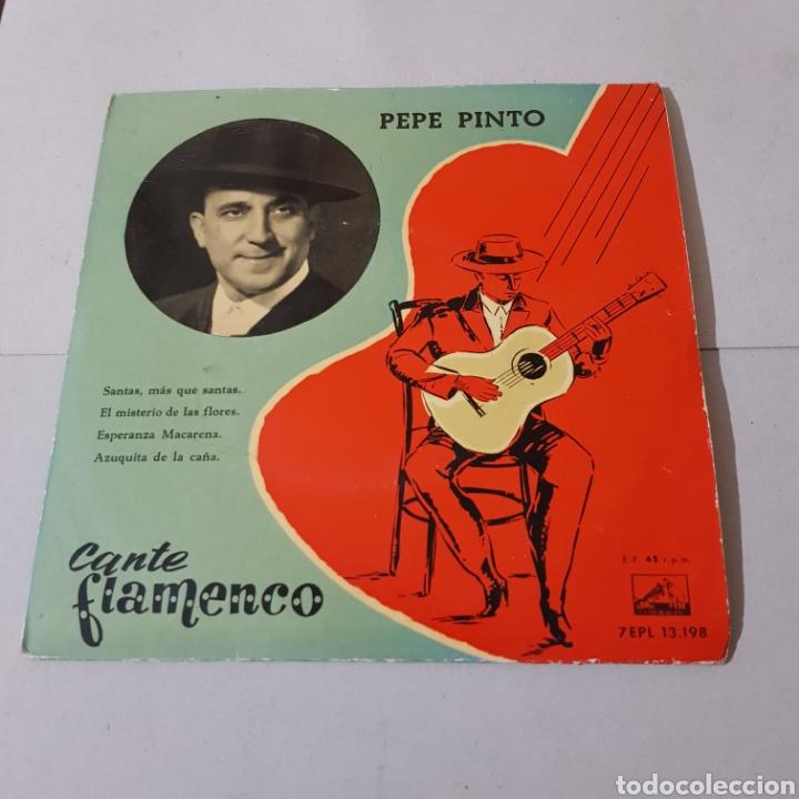 Discos de vinilo: PEPE PINTO - CANTE FLAMENCO 1958 - SANTAS , MAS QUE SANTAS - Foto 5 - 194904750