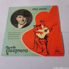 Discos de vinilo: PEPE PINTO - CANTE FLAMENCO 1958 - SANTAS , MAS QUE SANTAS. Lote 194904750