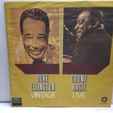 Discos de vinilo: LP DOBLE -DUKE ELLINGTON'S- COUNT BASIE EN FUNDA ORIGINAL AÑO 1978. Lote 194909971