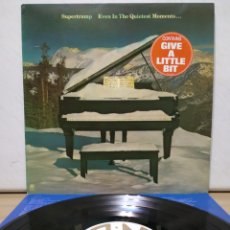 Discos de vinilo: SUPERTRAMP - EVEN IN THE QUIETEST MOMENTS 1977 ED HOLANDESA CON ENCARTE. Lote 194911400