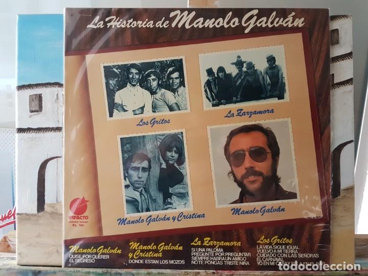 ** MANOLO GALVAN - LA HISTORIA DE MANOLO GALVAN - LP 1975 - LEER DESCRIPCIÓN (Música - Discos - LP Vinilo - Solistas Españoles de los 50 y 60)