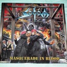 Discos de vinilo: LP SODOM - MASQUERADE IN BLOOD. Lote 194913863