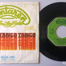 Discos de vinilo: SANTAREN & THE LOVIN' GIRLS / DANCE TANGO TANGO / SINGLE 7 INCH. Lote 194914852