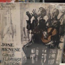 Discos de vinilo: 1968 MADRID DEDICADO JOSÉ MENESE CANTES FLAMENCOS BASICOS RCCVICTOR. Lote 194916891