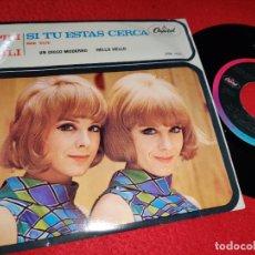 Discos de vinilo: PILI Y MILI SI TU ESTAS CERCA/UN CHICO MODERNO/ME VOY/HELLO HELLO EP 1967 CAPITOL MEXICO. Lote 194917866