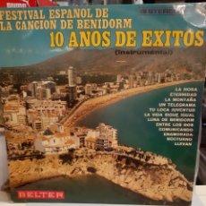 Discos de vinilo: FESTIVAL CANCIÓN BENIDORM X AÑOS ÉXITOS ORQUESTA DIEGO SANTILLAN BELTER. Lote 194919256
