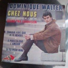 Discos de vinilo: DOMINIQUE WALTER - CHEZ NOUS + 3. Lote 194923691