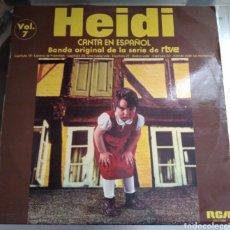 Discos de vinilo: HEIDI. VOL.7. CANTA EN ESPAÑOL. BANDA ORIGINAL DE LA SERIE DE RTVE. Lote 194924323