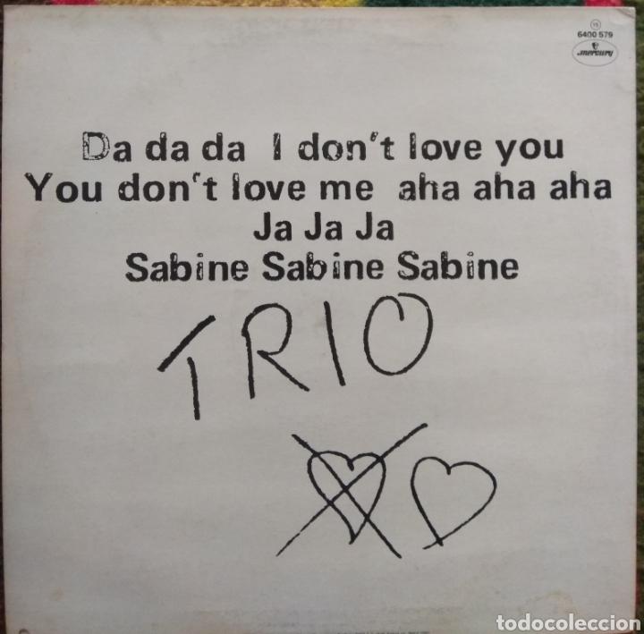 Discos de vinilo: Trio–Da Da Da I Dont Love You You Dont Love Me Aha Aha Aha - Foto 2 - 194924675