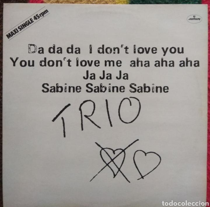 TRIO–DA DA DA I DON'T LOVE YOU YOU DON'T LOVE ME AHA AHA AHA (Música - Discos de Vinilo - Maxi Singles - Electrónica, Avantgarde y Experimental)