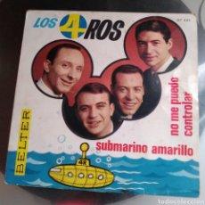 Discos de vinilo: LOS 4 ROS - SUBMARINO AMARILLO. Lote 194924731