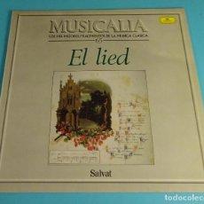 Discos de vinilo: LIED. DIETRICH FISCHER - DIESKAU Y OTROS BARÍTONOS. COLECCIÓN MUSICALIA Nº 65. Lote 194927678