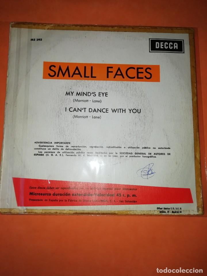 Discos de vinilo: SMALL FACES. MY MINDS EYE. I CANT DANCE WITH YOU. DECCA RECORDS 1966 - Foto 5 - 194928396