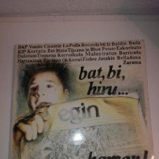 Discos de vinilo: DOBLE LP BAT BI HIRU... HAMAR EGIN PUNK ROCK VASCO. Lote 194930902
