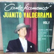 Discos de vinilo: JUANITO VALDERRAMA - DE SEVILLA A PUNTA UMBRÍA, PIROPO JEREZANO... - EP. DEL SELLO HISPAVOX 1961. Lote 194931636