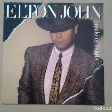 Discos de vinilo: ELTON JOHN -BREAKING HEARTS- LP THE ROCKET RECORD COMPANY ED. ESPAÑOLA 1984 MUY BUENAS CONDICIONES.. Lote 194935988