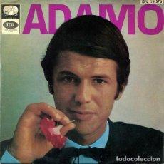 Discos de vinilo: ADAMO -LE NEON - VIVRE - UNE LARME AUX NAUGES - DIS MA MUSE - EP SPAIN 1967. Lote 194939453
