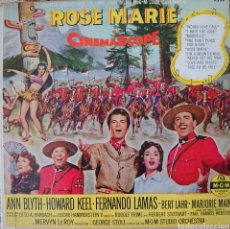 Discos de vinilo: ANN BLYTH Y HOWARD KEEL BANDA SONORA DE LA PELÍCULA ROSE MARIE SINGLE DOBLE EDITADO EN USA POR.... Lote 194942013