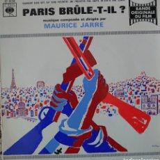 Discos de vinilo: BANDA SONORA DE LA PELÍCULA PARÍS BRÛLE-T-IL? EP SELLO CBS EDITADO EN FRANCIA.... Lote 194942408