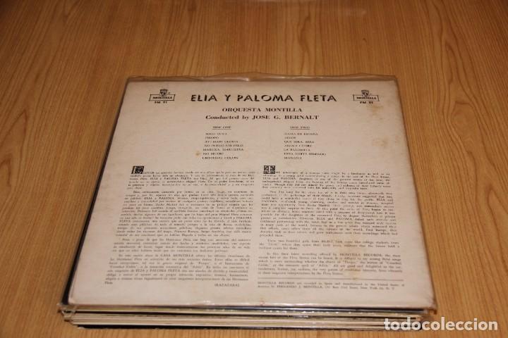 Discos de vinilo: Elia y Paloma Fleta - Elia y Paloma Fleta - Montilla FM 91 - 1958 - Edición USA - Foto 2 - 194942872