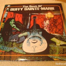 Discos de vinilo: BUFFY SAINTE MARIE DOBLE LP THE BEST OF VANGUARD FRANCIA 1970 DESPLEGABLE. Lote 194943185