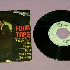 Discos de vinilo: ANTIGUO VINILO THE FOUR TOPS. REACH I'II BE THERE (LLEGAR A ESTAR ALLÍ). UNTIL YOU LOVE. Lote 194943440