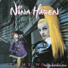 Discos de vinilo: NINA HAGEN, IN MY WORLD, SINGLE GERMANY 1991. Lote 194944107