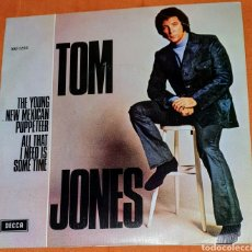Discos de vinilo: SINGLE VINILO. TOM JONES. CARA A: THE YOUNG NEW MEXICAN. CARA B: ALL THAT I NEED IS SOME TIME.. Lote 194945143