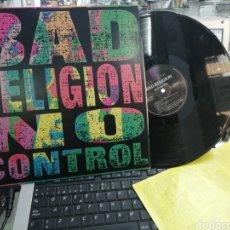 Discos de vinilo: BAD RELIGIÓN LP BAD CONTROL 1989 U.S.A.. Lote 194949972