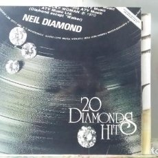 Discos de vinilo: ** NEIL DIAMOND - 20 DIAMONDS HITS - LP 1979 - LEER DESCRIPCIÓN. Lote 194954707