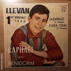 Discos de vinilo: EP RAPHAEL. LLEVAN. RAPAHEL EN BENIDORM. Lote 194956811