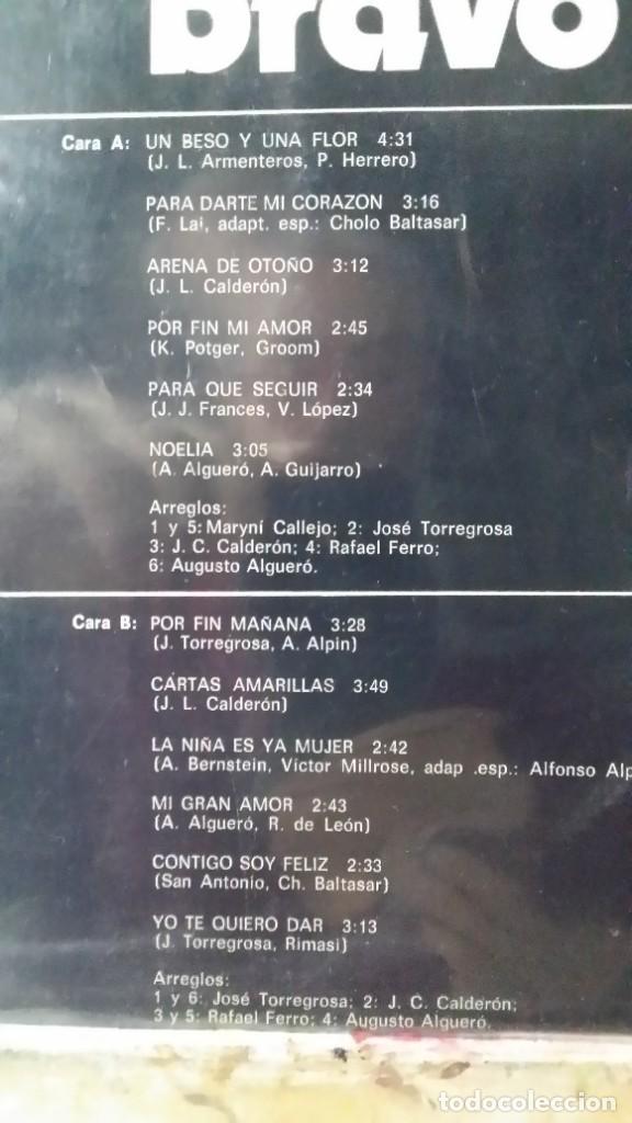 Discos de vinilo: ** NINO BRAVO - UN BESO Y UNA FLOR - LP 1973 (3º ÁLBUM DEL CANTANTE) - LEER DESCRIPCIÓN - Foto 2 - 194957547