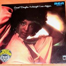 Discos de vinilo: SINGLE VINILO. CAROL DOUGLAS. CARA A: MIDNIGHT LOVE AFFAIRE. CARA B: CRIME DOB'T PAY.. Lote 194960737