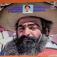 Discos de vinilo: SINGLE VINILO DE JORGE CAFRUNE Y MARITO. YO HE VISTO CANTAR AL VIENTO. VIRGEN INDIA.. Lote 194963016