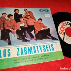 Discos de vinilo: LOS ZARMATYSEIS NO NECESITO TU AMOR/SETIEMBRE/HERMANOS/MANDE VD.SEÑORA ESPAÑA EP 1966 SONOPLAY. Lote 194963475
