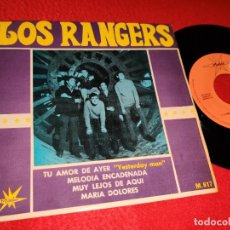 Discos de vinilo: LOS RANGERS TU AMOR DE AYER/MELODIA ENCADENADA/MUY LEJOS DE AQUI/MARIA DOLORES EP 1966 MARFER. Lote 194963750