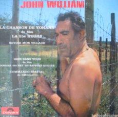 Discos de vinilo: JOHN WILLIAMS EP SELLO POLYDOR DE LA PELÍCULA DE ANTHONY QUINN LA HORA 25 EDITADO EN FRANCIA. Lote 194963865