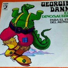 Discos de vinilo: SINGLES VINILO GEORGIE DANN EL DINOSAURIO Y EL FIN DEL MUNDO. Lote 194963885
