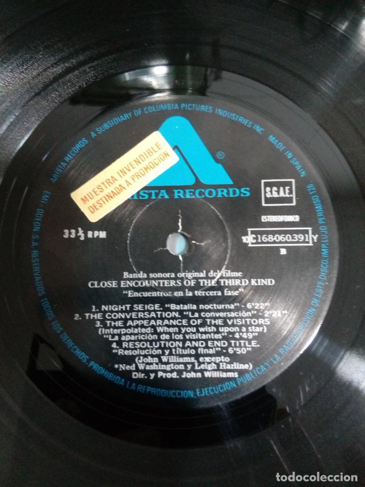 Discos de vinilo: encuentros en la tercera fase - promocional - carpeta abierta - buen estado - ver fotos - leer - Foto 5 - 194964287
