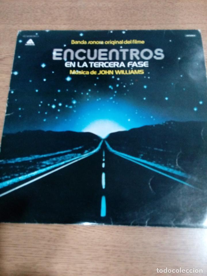 ENCUENTROS EN LA TERCERA FASE - PROMOCIONAL - CARPETA ABIERTA - BUEN ESTADO - VER FOTOS - LEER (Música - Discos - LP Vinilo - Bandas Sonoras y Música de Actores )