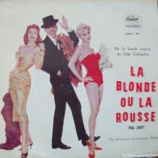 Discos de vinilo: BANDA SONORA DE LA PELÍCULA LA BLONDE OU LA ROUSSE EP SELLO CAPITOL EDITADO EN FRANCIA. Lote 194964367