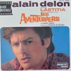Discos de vinilo: ALAIN DELON BANDA SONORA DE LA PELÍCULA LOS AVENTUREROS EP SELLO DUCRETET EDITADO EN FRANCIA.. Lote 194964722