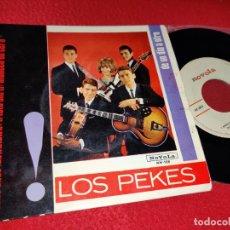 Discos de vinilo: LOS PEKES CHAO CHAO/TRISTE SIN TI/MUÑECA DE CERA/DE UN DIA A OTRO EP 1965 NOVOLA. Lote 194966085