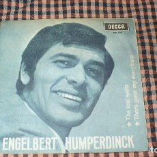 Discos de vinilo: ENGELBERT HUMPERDINCK ‎– THE LAST WALTZ / THERE GOES MY EVERYTHING, DECCA ‎– ME 340, 1967.. Lote 194967352