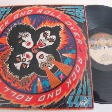Discos de vinilo: KISS-LP ROCK AND ROLL OVER-ESPAÑOL 1977-VER FOTOS. Lote 194969355