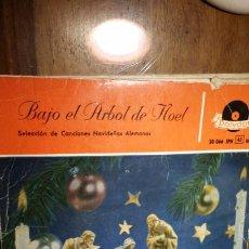 Discos de vinilo: BAJO EL ARBOL DE NOEL. SELECCIÓN DE CANCIONES NAVIDEÑAS ALEMANAS. POLYDOR. Lote 194970060