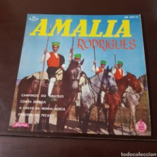 Discos de vinilo: AMALIA RODRIGUES - ORQUESTA DE JOAO NOBRE - CAMPINOS DO RIBADETEJO - CONTA ERRADA - A CHAVE DA MINHA. Lote 194976470