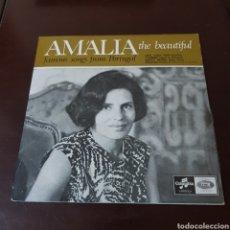 Discos de vinilo: AMALIA RODRIGUES - UMA CASA PORTUGUESA - COIMBRA - SOLIDAO - MAE PRETA. Lote 194976848